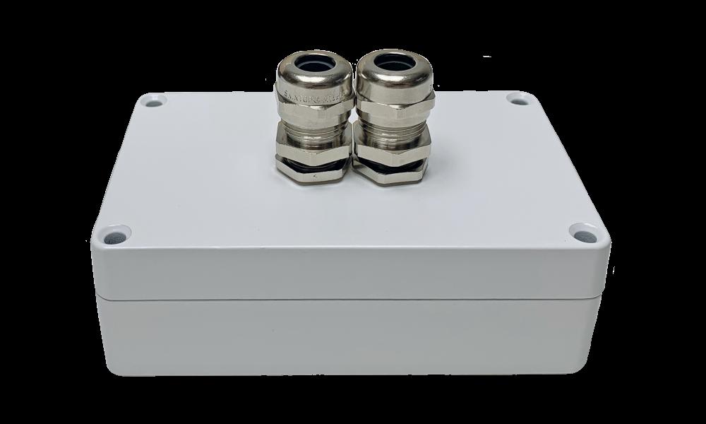 Aluminium RF montagebox wit