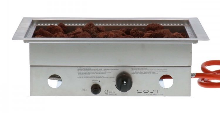 Cosiburner rectangular SS