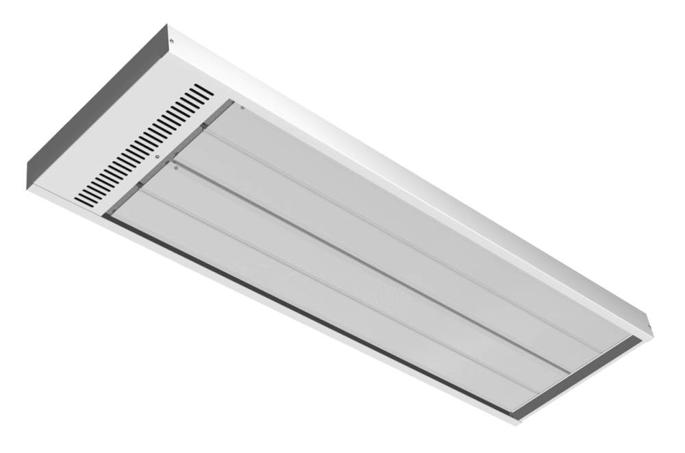 Energo Strip 1200 white RAL 9010 high temperature panel