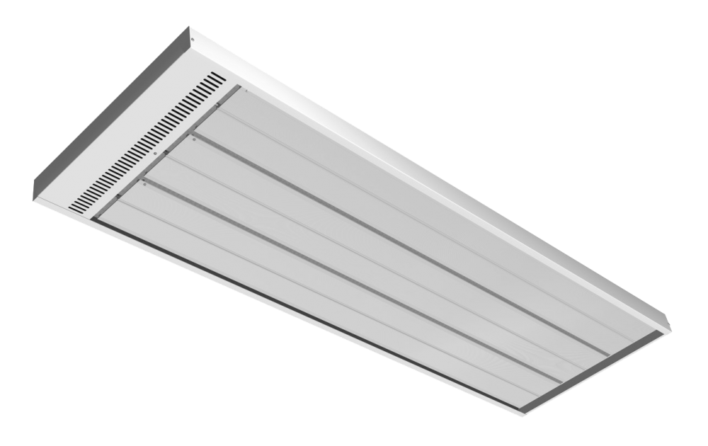 Energo Strip 2400 white RAL 9010 high temperature panel