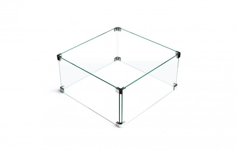 Wardenaar glass windbreaker fireplace 39x69cm