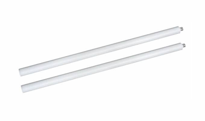 Extension Pole 600mm White 2pack