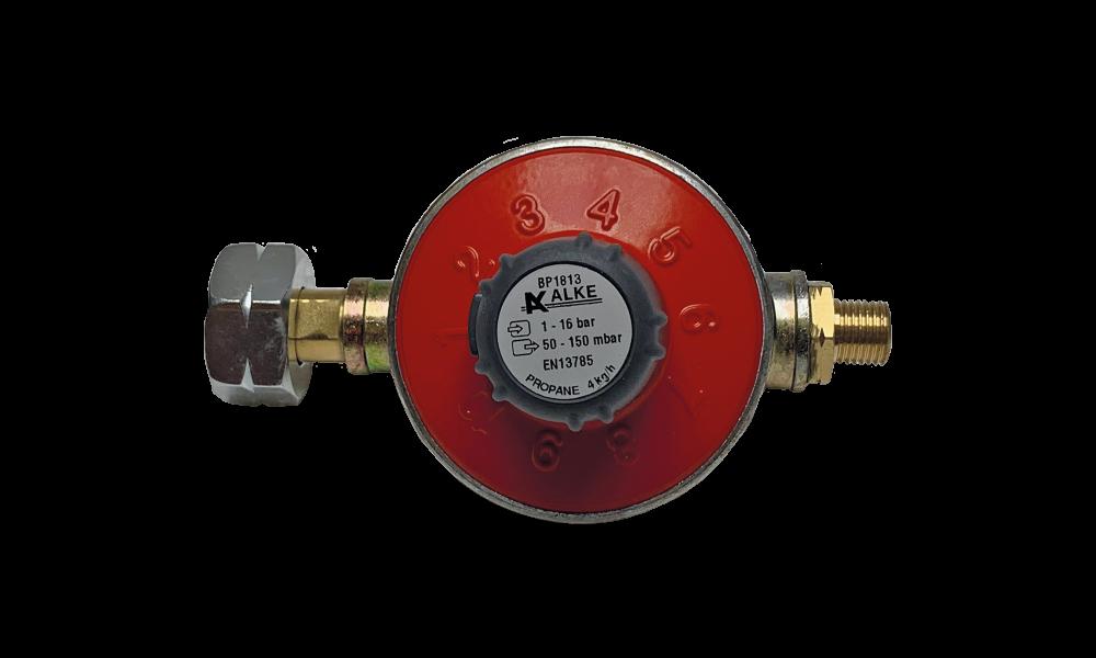 Alke variable pressure regulator 50 - 150mbar 4kg, Shellx1/4'''L