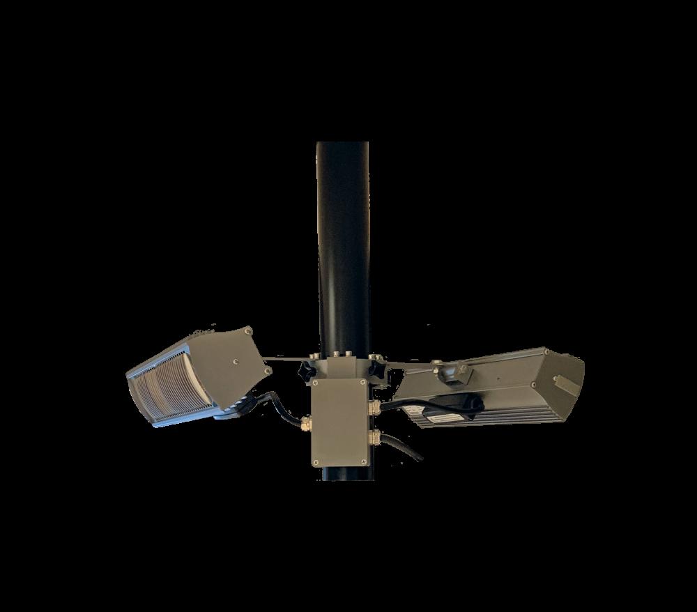 Tansun parasol ring 2x1500W black