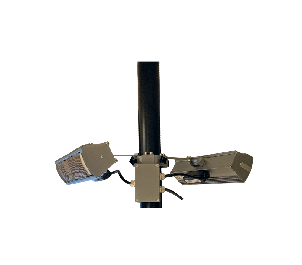 Tansun parasol ring RF 2x1500W anthracite