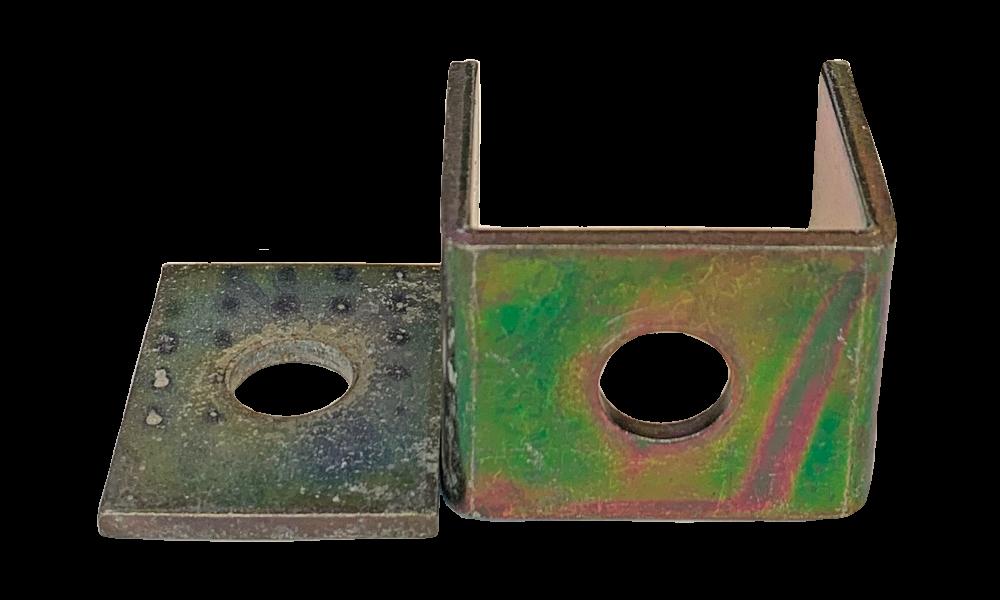 Alke beugel & onderplaat EID2G zincorlite