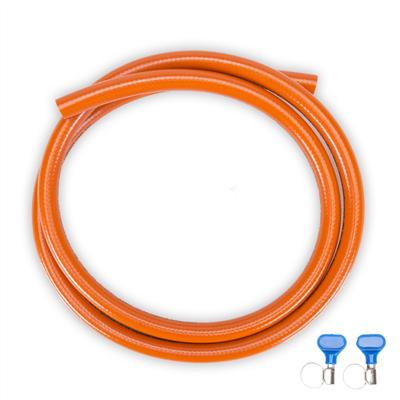 Propane hose set 10 meter incl. 2x hose clamp
